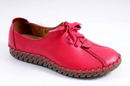 7892-2 туфли /10/ (RED TUMBLED LEATHER)